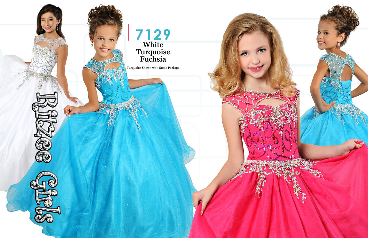 RITZEE GIRLS PAGEANT DRESS 7129