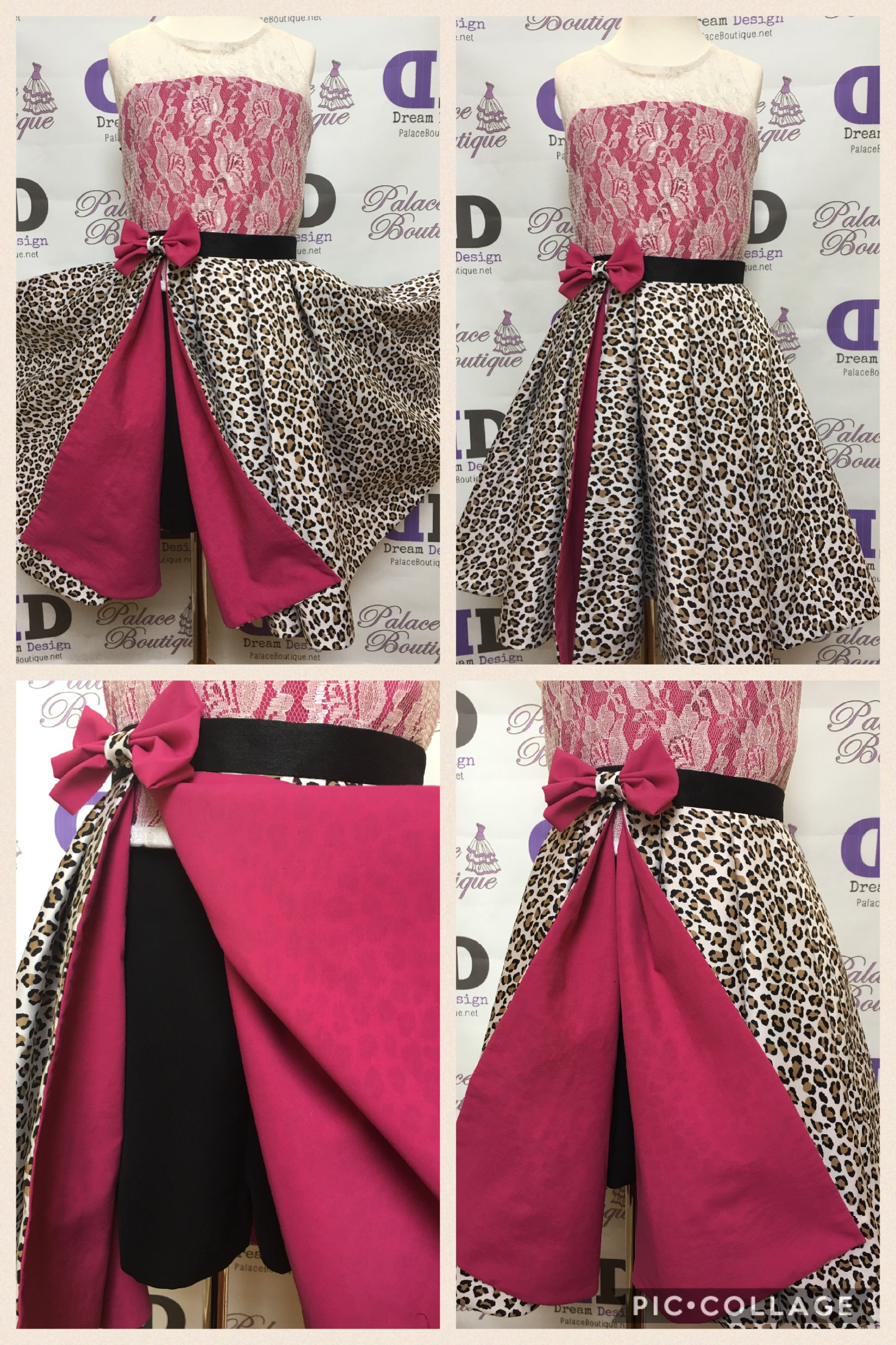 Cheetah hot pink runway outfit