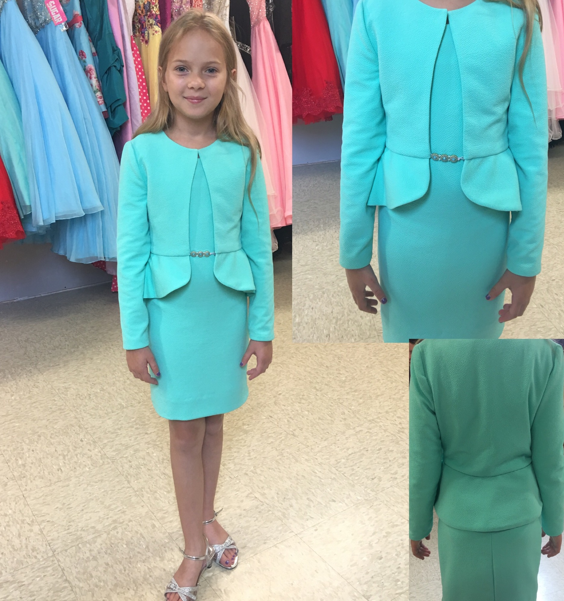 Girls Interview Dress with Jacket