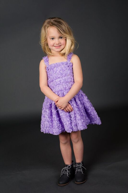 Short party dress purple